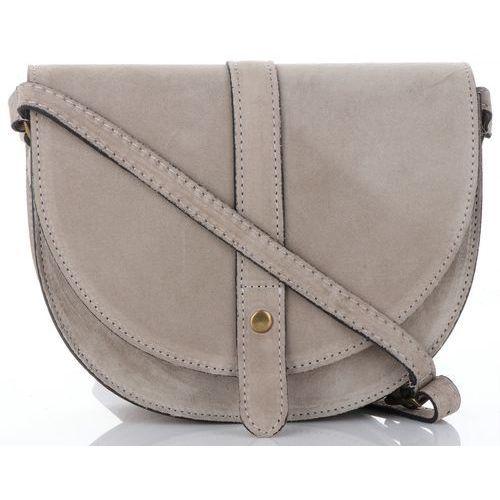 882e8cf516936 włoskie torebki skórzane listonoszki na każdą okazję wykonane w całości z wysokiej  jakości zamszu naturalnego beżowe