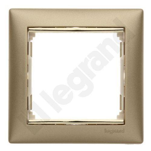VALENA Ramka pojedyncza uniwersalna złoty mat/złoto 770301 Legrand