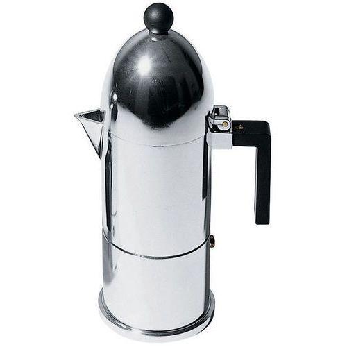 la cupola kawiarka do espresso z aluminium z czarną rączką, średnia marki Alessi