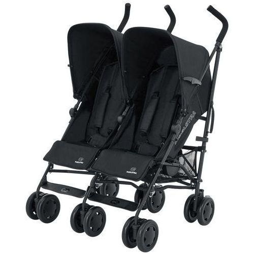 Koelstra bliźniaczy wózek spacerowy simba twin t4, czarny 313102001 (8719558480579)