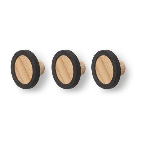 Umbra - Stojak na ubrania Pillar - czarny/orzech włoski - czarny ||jasne drewno