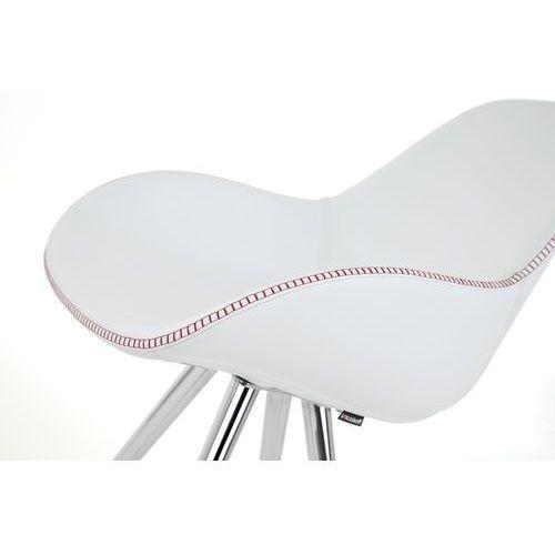 Kubikoff Krzesło ANGEL CONTRACT BLACK DIMPLE POP eko-skóra angelcontrdimplepop-eco, kolor różowy