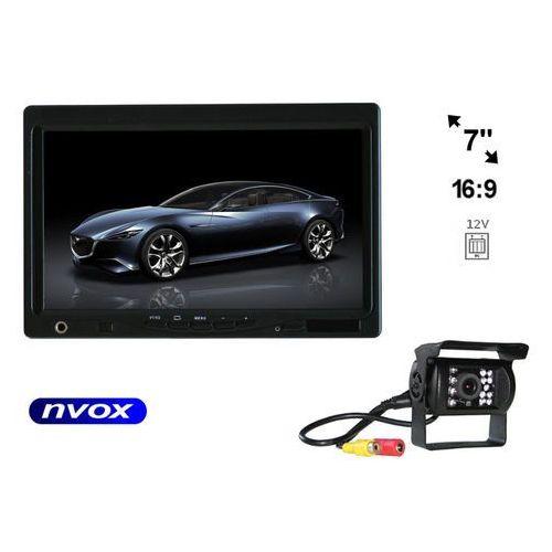 """Zestaw monitor zagłówkowy lub wolnostojący lcd 7"""" samochodowa kamera cofania marki Nvox"""
