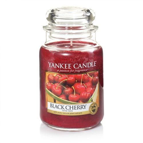 Świeca zapachowa duży słój Black Cherry 623g