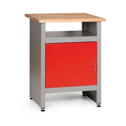 Stół roboczy z zamykaną szafką i półką