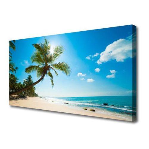 Tulup.pl Obraz canvas palma drzewo plaża krajobraz