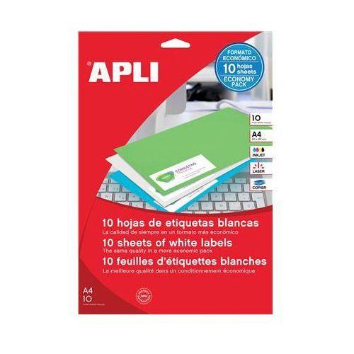 Etykiety uniwersalne APLI, 48,5x25,4mm, prostokątne, białe 10 ark. (8410782129257)