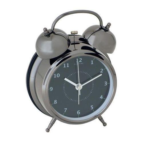 Budzik wake up czarny 9 cm marki Nextime