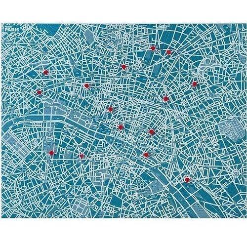 Dekoracja ścienna pin city paryż jasnoniebieska marki Palomar