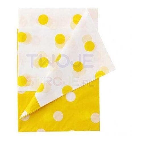 """Twojestroje.pl Obrus foliowy """"groszki"""" żółte 128x181cm (5901238678137)"""