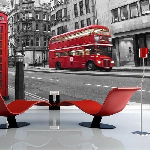Fototapeta - londyn: czerwony autobus i budka telefoniczna marki Artgeist