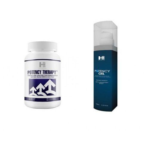 Zestaw na potencję potency therapy 60tab. + potency gel 100ml marki Sexual health series (gb)