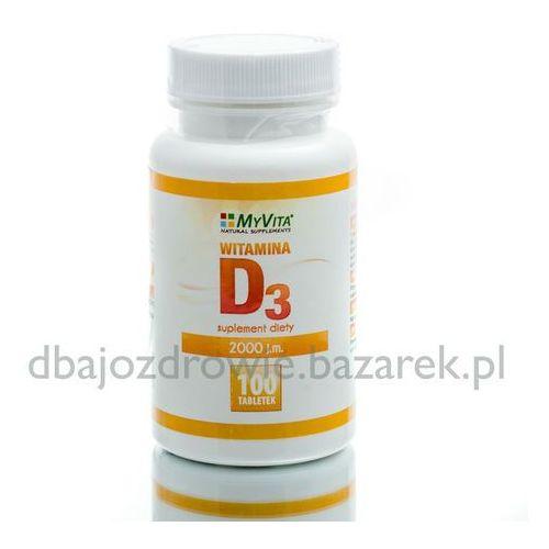 WITAMINA D3 2000 IU, 100 tabletek, MyVita