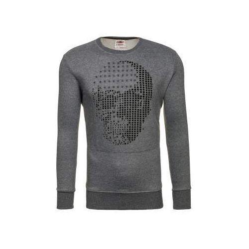 Bluza męska bez kaptura z nadrukiem grafitowa denley 9104 marki Breezy