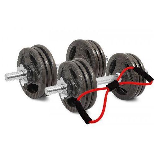 Hantle żeliwne kierownice zestaw 2x10 kg Tytan Sport 20 kg + Ekspander, 9045