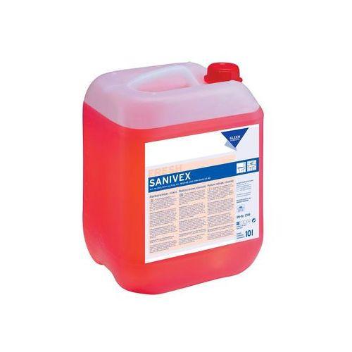 sanivex - środek do usuwania trudnych zabrudzeń w łazienkach, toaletach, prysznicach i basenach marki Kleen
