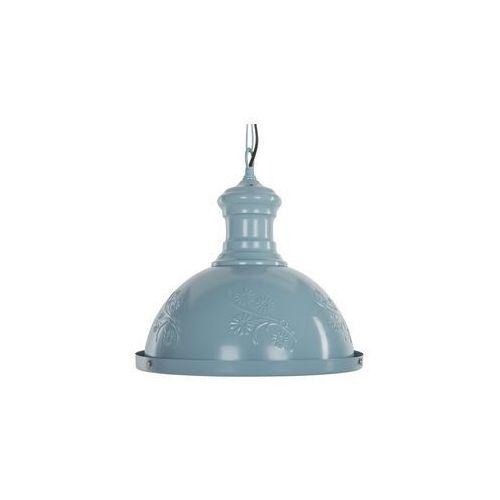 Lampa wisząca metalowa niebieska didessa marki Beliani