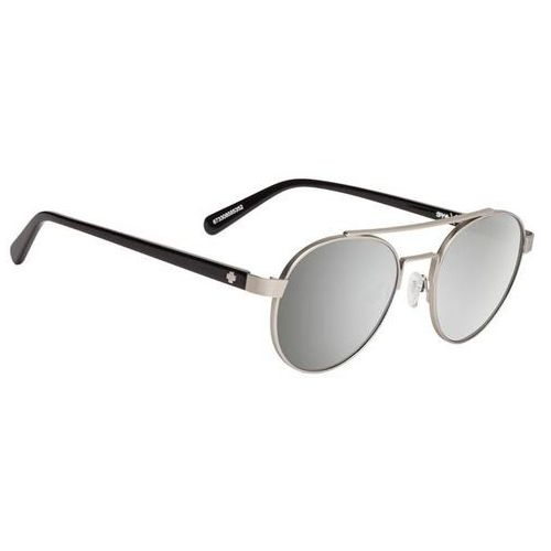 Spy Okulary słoneczne deco matte silver/black - happy grey green w/ silver mirror