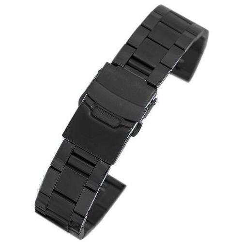 Pacific Czarna stalowa bransoleta do zegarka sb1803 - 18mm