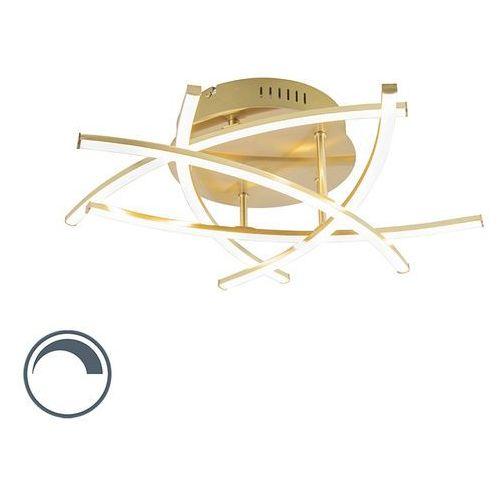 Designerska lampa sufitowa z możliwością przyciemniania złota, w tym led - cielo marki Honsel