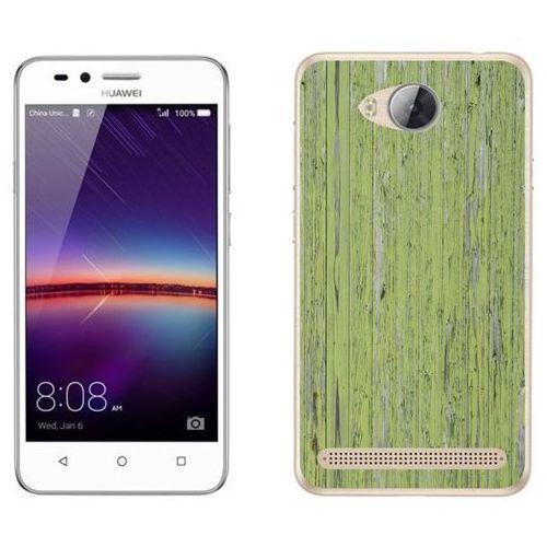 Huawei Y3 II - etui na telefon - Kolekcja drewno - panele zielone - B21 - Panele zielone