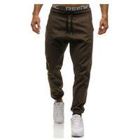 Spodnie baggy męskie brązowe denley 0399 marki Athletic