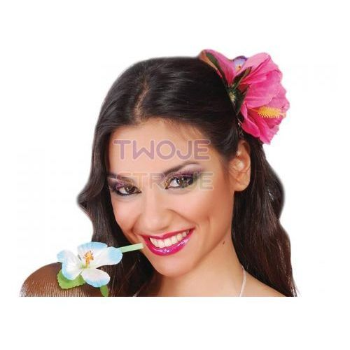 Twojestroje.pl Kwiat hawajski do włosów róż 2szt