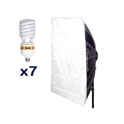 Powerlux  rc-697 z softboxem 60x90 cm + 7x85 w 6500k