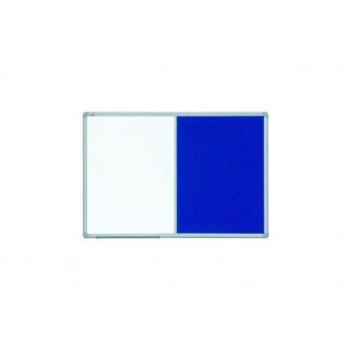 Tablica Combi 2- częściowa (suchościeralno-magnetyczna i tekstylna) 120x90, C-2X3-TCAST129