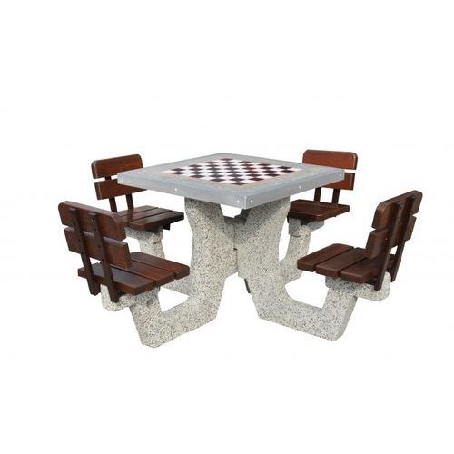 Betonowy stół do gry w szachy z oparciem 2 marki Eco-market.pl