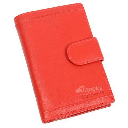 Samsonite B-Lux portfel skórzany damski RFID / 146-042-4 - czerwony