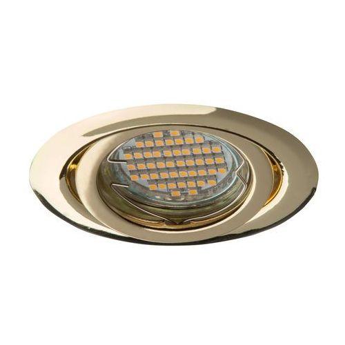 Superled oprawa oprawka led halogenowa ruchoma okrągła kolor złoty oh15 0909 (5906340210909)