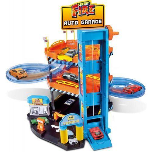 Bburago street fire zestaw garaż + 2 autka (1:43) (4893993303618)