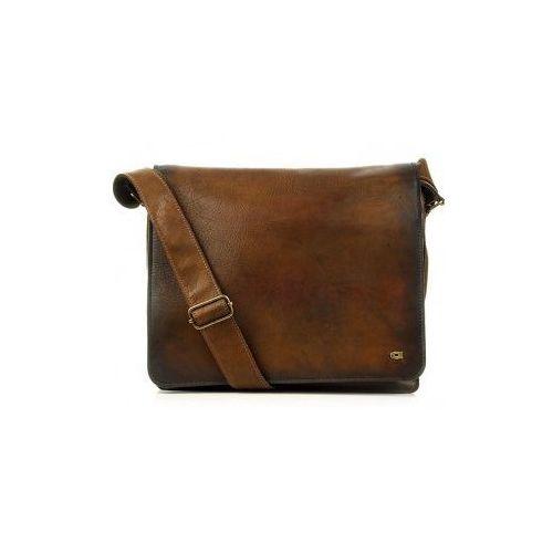 Alive 19 torba skóra naturalna firmy na ramię z miejscem na notebook unisex marki Daag