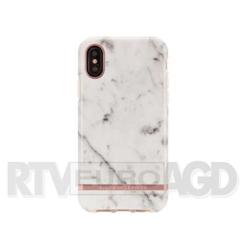 Richmond & Finch White Marble - Rose Gold iPhone X/Xs (7350076894373)