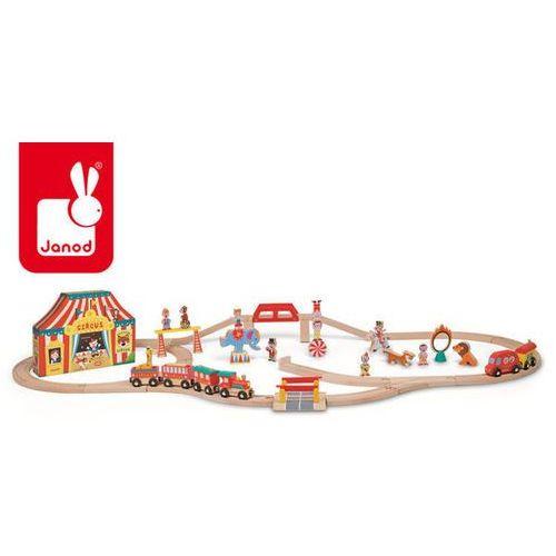Cyrk kolejka drewniana zestaw 52 części - zabawka dla dzieci