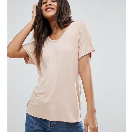 Asos design tall t-shirt with drapey batwing sleeve in pink - pink, Asos tall