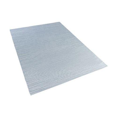 Dywan - jasnoniebieski - 140x200 cm - bawełna - handmade - derince marki Beliani