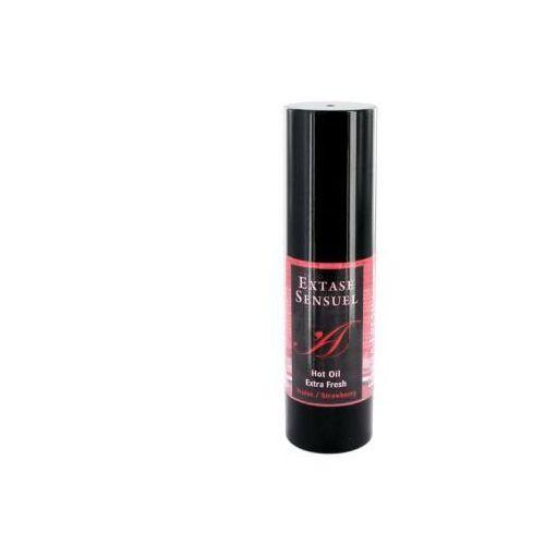 Olejek stymulujący rozgrzewający -  hot oil extra fresh strawberry marki Extase sensuel