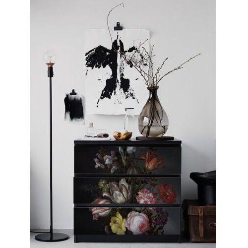 Naklejki Ikea Malm Ciemne Holenderskie Kwiaty w Stylu Vintage