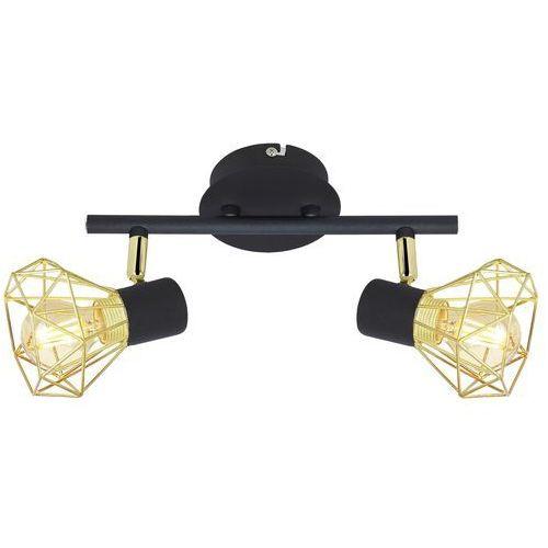Plafon lampa sufitowa verve 92-63175 reflektorowa oprawa listwa spot druciany loft czarny złoty marki Candellux