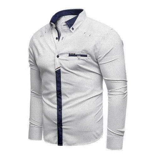 7e92585264d5 Risardi Koszula męska długi rękaw rl07 - biała - E-Sklep.PL
