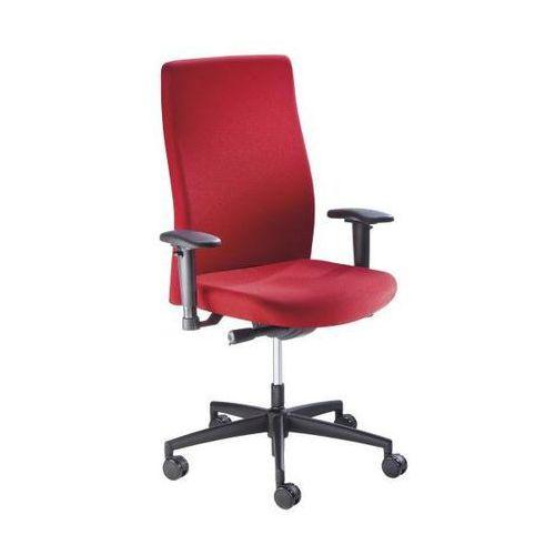 Krzesło obrotowe dla operatora, wys. oparcia 590 mm, mechanizm synchroniczny, pł