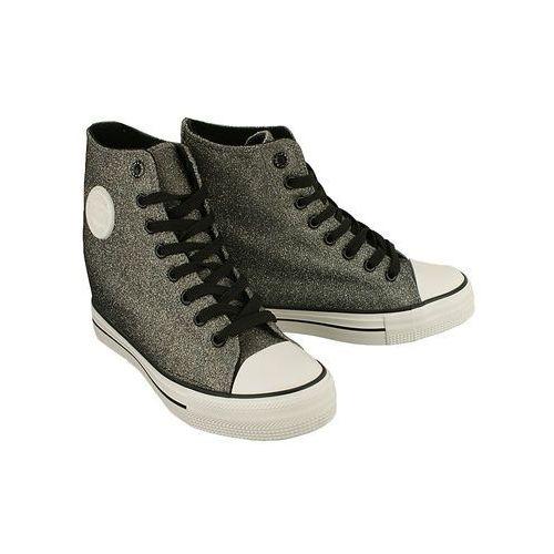 Big star w274675 szary, trampki, sneakersy damskie - srebrny