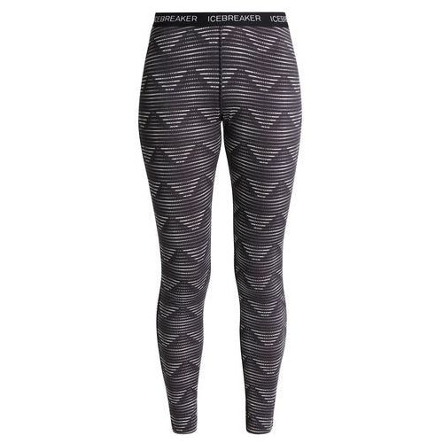 Icebreaker OASIS LEGGINGS DIAMOND LINE Kalesony blizzard heather/black