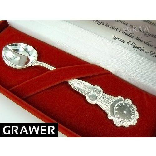 Łyżeczka srebrna 925 grawer pamiątka na chrzest od producenta Alechrzest.pl