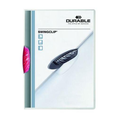 Durable Skoroszyt zaciskowy swingclip czerwony purpurowy a4/30k.