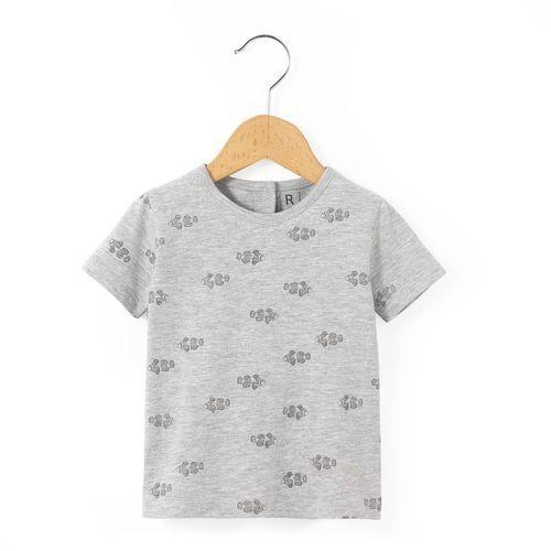Koszulka z okrągłym dekoltem, nadrukiem i krótkim rękawem