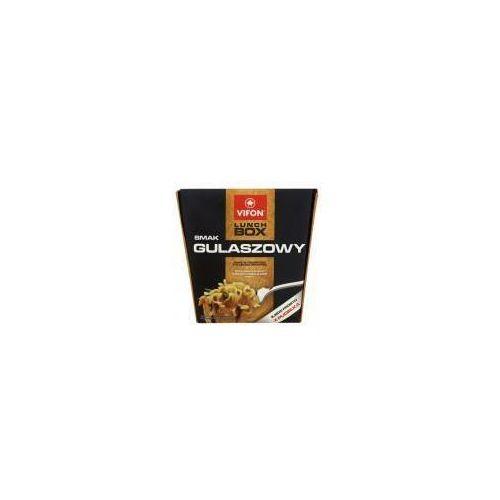 Lunch Box smak gulaszowy Danie błyskawiczne z kluskami pikantne 80 g Vifon - produkt z kategorii- Dania gotowe