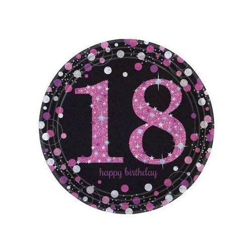 Talerzyki na osiemnaste urodziny - 23 cm - 8 szt.
